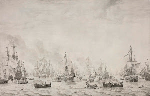 RIJKS: Willem van de Velde (I): The Battle of the Downs 1659