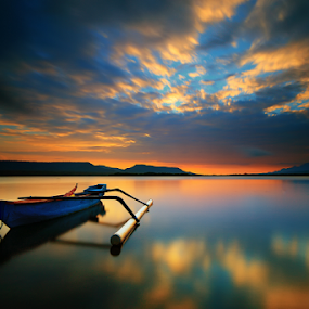Jukung in Sunrise by Gus Mang Ming - Landscapes Sunsets & Sunrises (  )