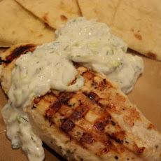 Chicken Souvlaki With Tzatziki Sauce