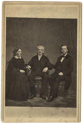 Harriet Beecher Stowe, Lyman Beecher, and Henry Ward Beecher, ca. 1860