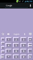 Screenshot of GO Keyboard Purple Pearl