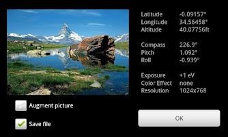 Screenshot of GeoCam Free