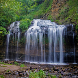Cascade Falls by Erin Dybedahl - Landscapes Waterscapes ( water, waterfalls, falls, valley, landscape )