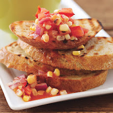 Smokey Corn and Tomato Bruschetta