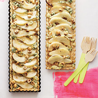 Hazelnut, Pear, and Blue Cheese Tart