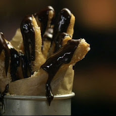 Sticky Sticks With Chocolate Sauce