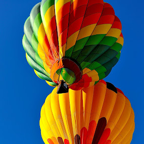 Almost Twins? by Roy Walter - Transportation Other ( flight, colorful, transportation, hot air balloons, fire )