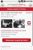 Screenshot of Citroën Select Occasions