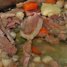 Navy Bean Soup With Ham and Vegetables