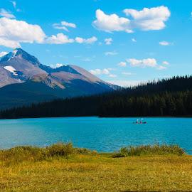 Jasper National Park by Carla Chidiac - Landscapes Travel ( green water, mountain, alberta, canada, rocky mountains, beautiful, lake, blue water, travel, rockies, jasper, jasper national park, landscapes )