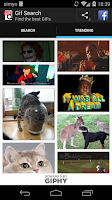 Screenshot of GIF Search: Find funny gifs