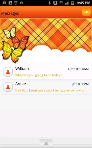 GO SMS - Orange Cream Sky