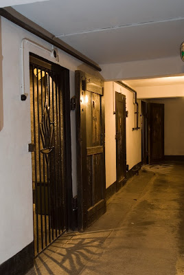"The basement of the ""Death Block""  where Mala and Edek were detained after their failed escape from the camp."