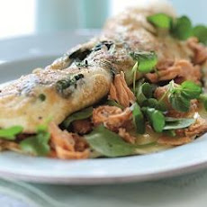 Watercress And Salmon Omelette