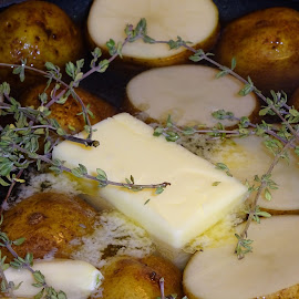 Thyme for Potatoes by Judy Dean - Food & Drink Cooking & Baking ( thyme, butter, food, potatoes, cooking,  )