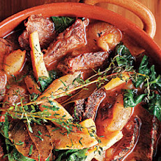 Beef Pot Roast with Turnip Greens