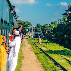 The battle reaches destination  by Topu Saha - People Street & Candids ( train_journey, adventure, train, travel, people,  )