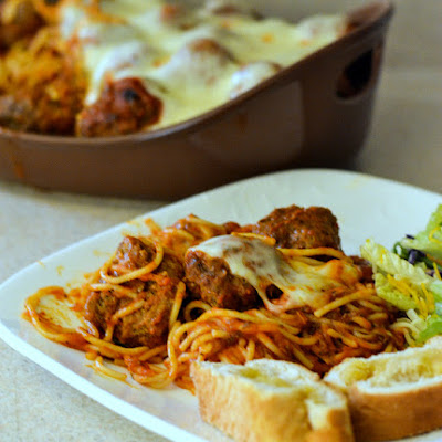 Baked Spaghetti with Meatballs