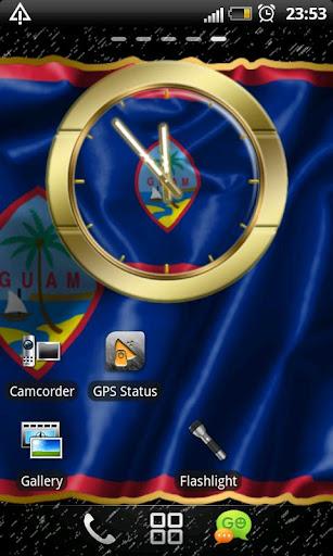Guam flag clocks