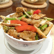 Peppered Chicken or Pork Stir Fry.