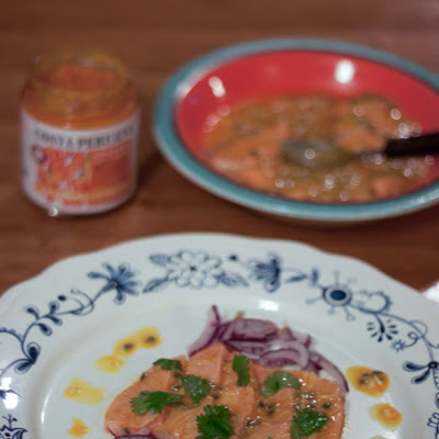 Passion Fruit & Lime Salmon Ceviche