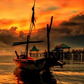 siap berlayar by Sam Hidayat - Instagram & Mobile Android ( pantai, perahu )