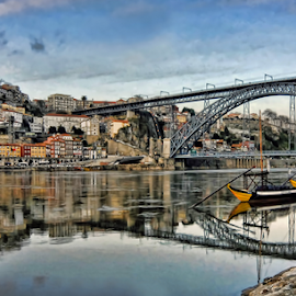 City of Porto by Antonio Amen - City,  Street & Park  Vistas ( river douro, bridge, d.luiz i, reflex, porto )