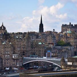 Edinburgh, Scotland by Lynnie Keathley - City,  Street & Park  Skylines