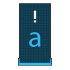 Squared Cyan HD Keyboard Theme icon