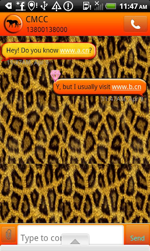 GO SMS THEME CheetahNJewels