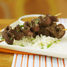 Beef Sate with Peanut Dipping Sauce