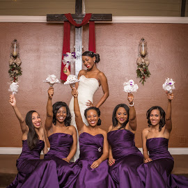 Bride and maids by Rico Eche - Wedding Groups ( bridesmaids, wedding, bride )