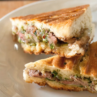 Steak Panini with Chimichurri Sauce