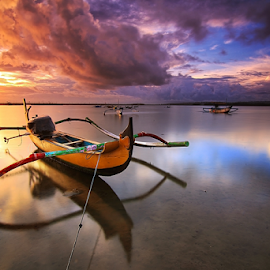 Jukung at Tuban Beach Bali by Nghcui Agustina - Transportation Boats