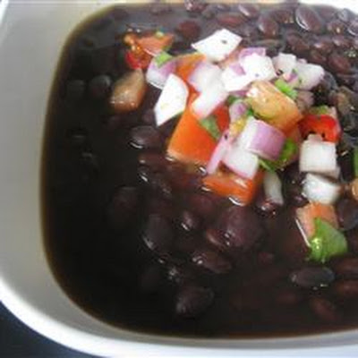 Spicy Slow Cooker Black Bean Soup