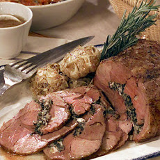 Leg of Lamb with Greens