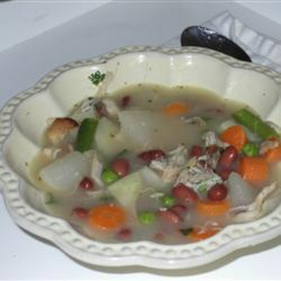 Turkey, Beans and Vegetable Soup