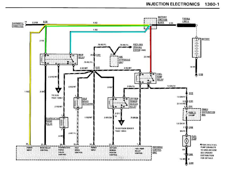 Car won't start - not CPS or Fuel pump   Bmw Fuel Pump Wiring Diagram      M42club.com