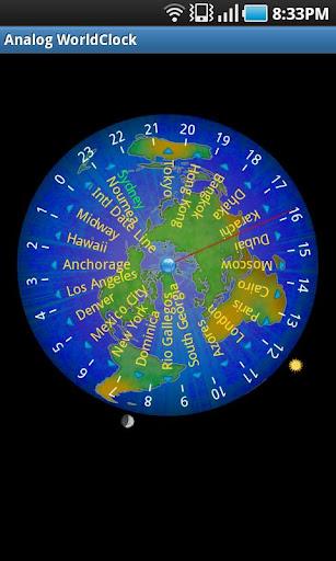 アナログ世界時計
