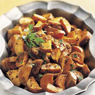 Roasted Yams with Citrus and Coriander Butter