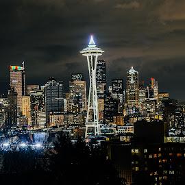 Seattle by Stosh Lemberes - City,  Street & Park  Skylines ( washington, seattle, seahawks )