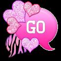 GO SMS - Hearts Zebra Pastel 3 icon