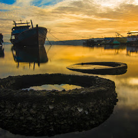 Gold Sunrise by Nandy Rery - Landscapes Waterscapes (  )