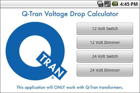 Q-Tran Voltage Drop Calculator