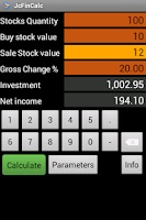 Screenshot of Stocks return calculator
