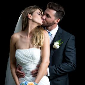 twin light by Kain Dear - Wedding Bride & Groom ( love, bouquet, kiss, dress, wedding, beauty, marriage, bride, groom )