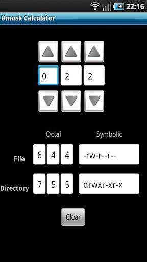 Umask Calculator