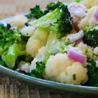 Broccoli and Cauliflower Salad with Lemon, Dijon, and Tarragon Vinaigrette