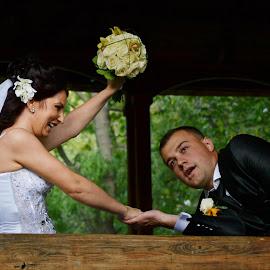 The woman always win by Elena Alexandra Roman - Wedding Bride & Groom
