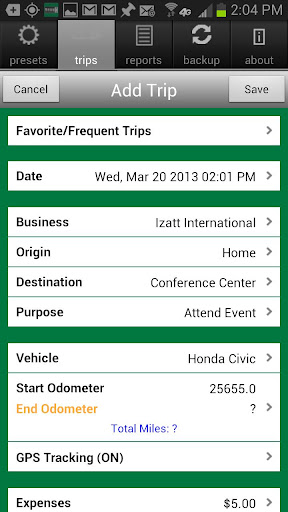 MileBug Mileage Log & Expenses - screenshot